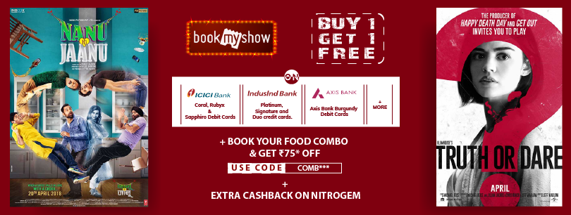 Buy 1 Get 1 Free On Movies TIcket