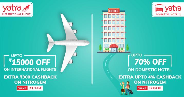 Upto 70% OFF On Hotels % Flight