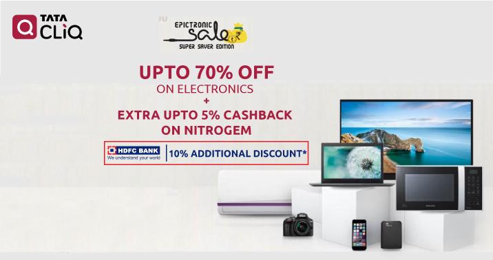 Upto 70% OFF On Electronics