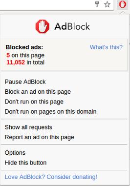 Disable Adblock
