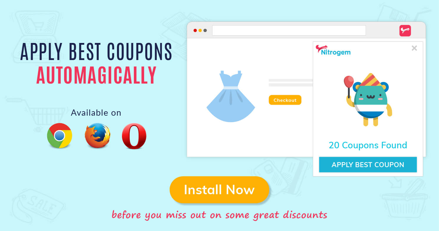 Nitrogem Extension Automatically Applies the Best Coupon at Checkout