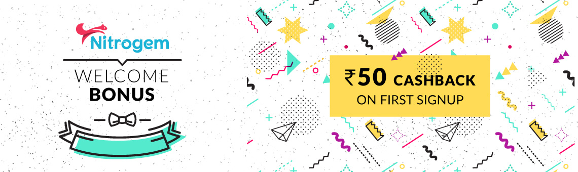 Nitrogem Welcome Bonus of Rs. 50 on Signup